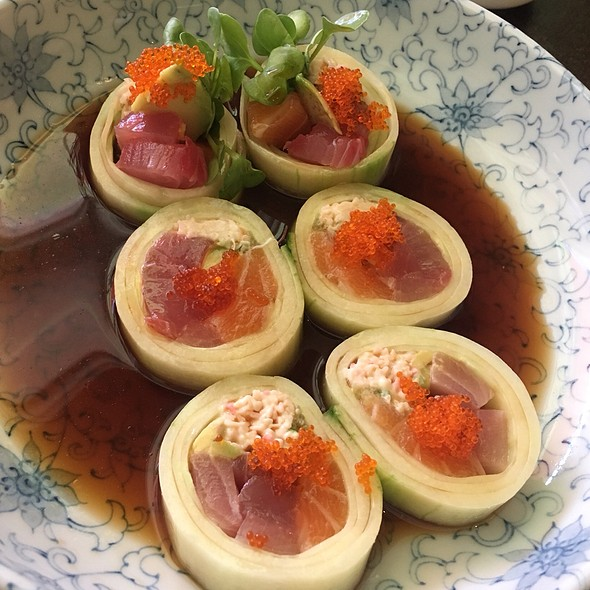 Sushi Wrapped In Cucumber