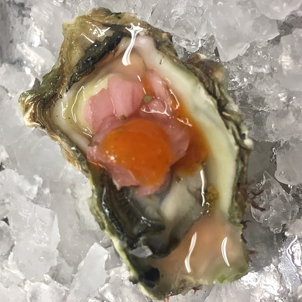 Oyster With Hot Sauce  @ Swan Oyster Depot