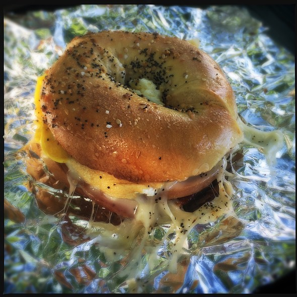 Pork Roll Egg And Cheese @ Clinton Bagel Co