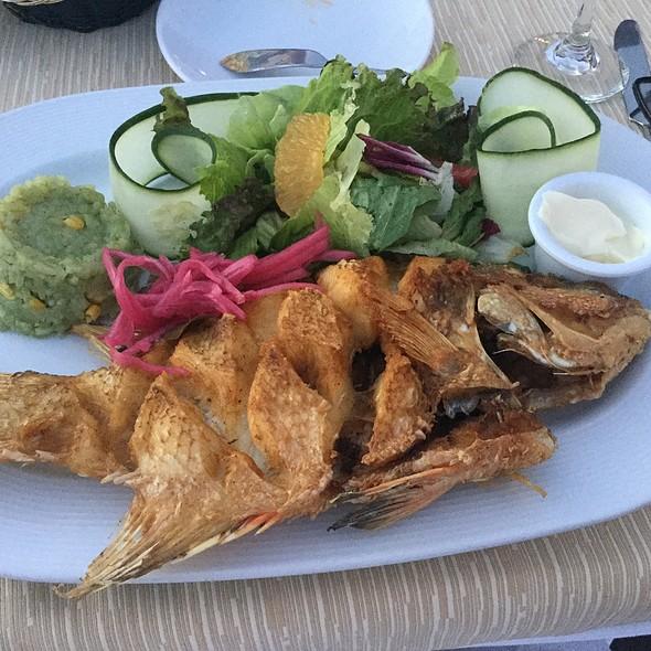 Fried Whole Hogfish  @ Navios