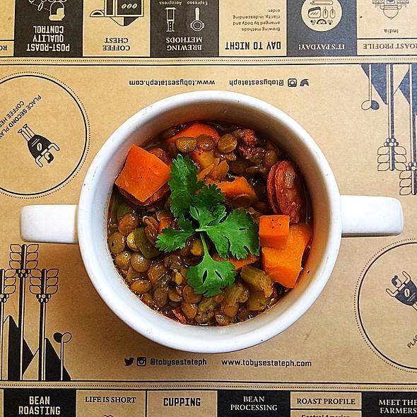 Lentil Stew @ Toby's Estate Coffee