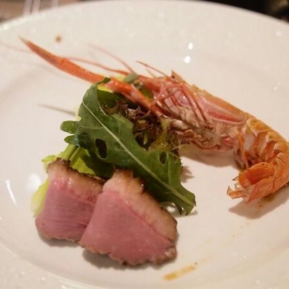 Low temperature duck slice with shrimp @ Shen Yen Teppanyaki