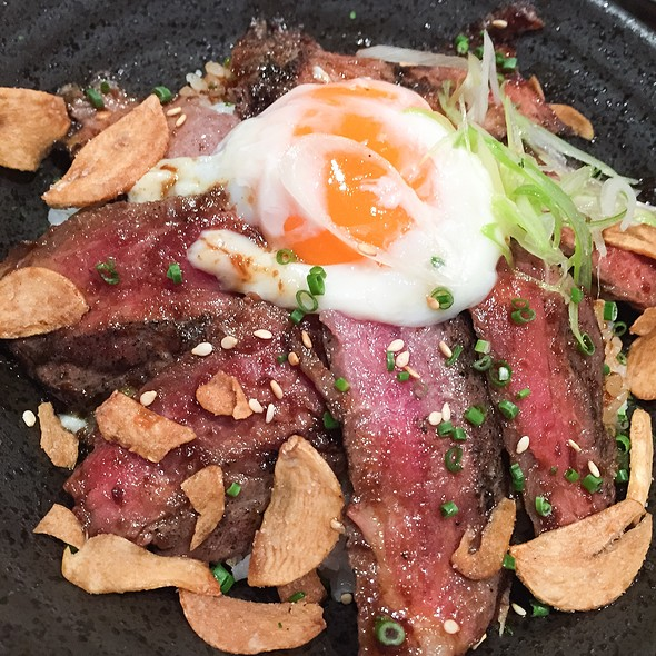 Special Gyu Don With Onsen Egg And Garlic Chips @ Sushi Sen