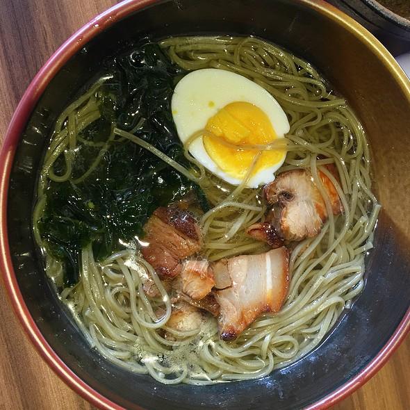 Matcha Ramen With Pork Katsu