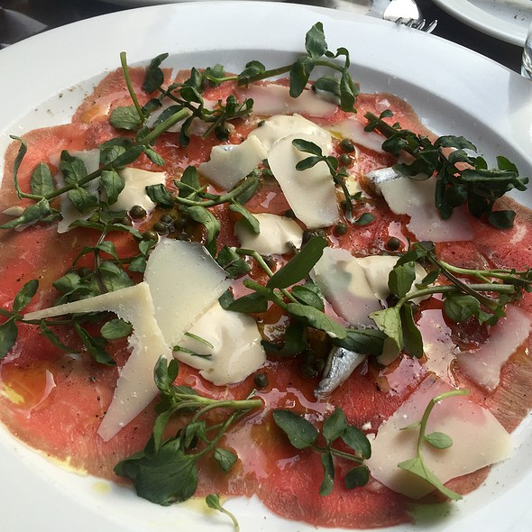 Beef Carpaccio With Parmesan And White Anchovy - North End Grill, New York, NY