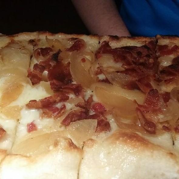 Bacon & Gruyere Flatbread - Village Tavern Alpharetta, Alpharetta, GA