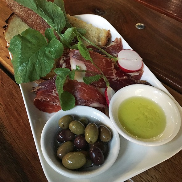 Jamón Iberico Black Pig With House Marinated Olives & Artisan Loaf @ Timbah