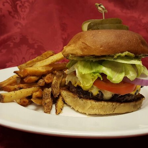 Build Your Own Burger - The Palace Restaurant and Saloon, Santa Fe, NM
