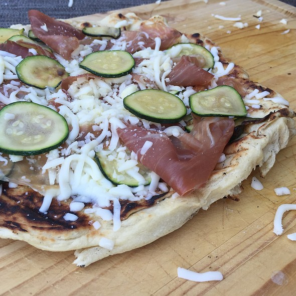 Grilled Pizza With Prosciutto And Zucchini