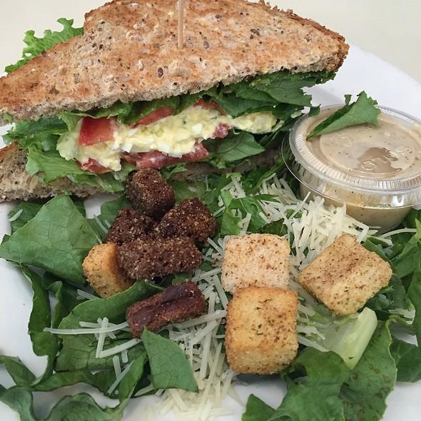 Egg Salad Sandwich W/ Caesar Salad