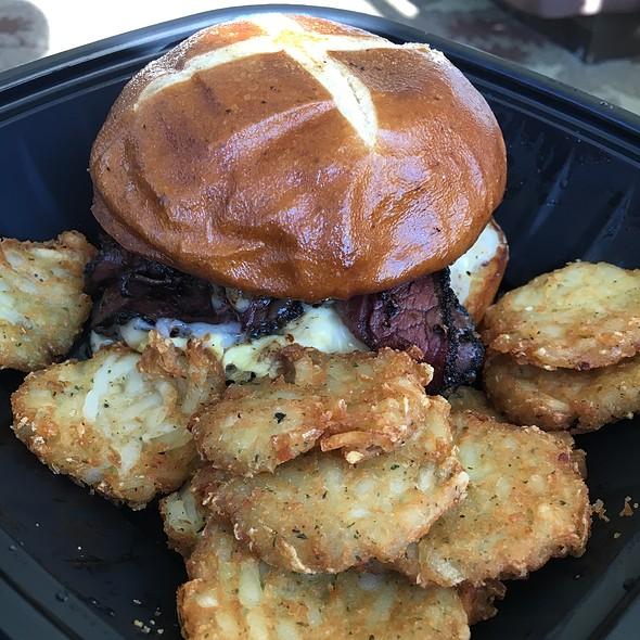 Pastrami & Egg Sandwich W/ Hash Browns @ Nelson's Deli At Blue Chip Casino