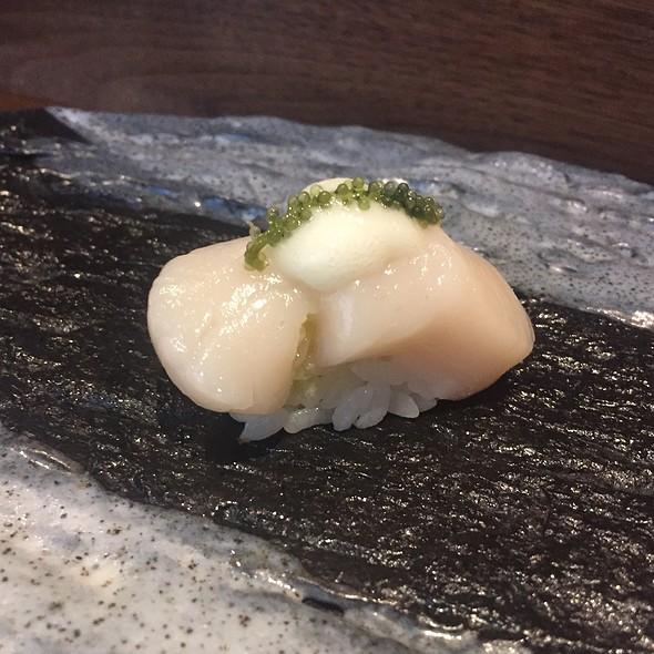 Hokkaido Scallop With Yuzu Foam And Sea Grapes
