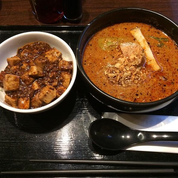 Spicy Tan Tan Men & Mini Ma Po Tofu Over Rice Set @ 炎麻堂 三軒茶屋店