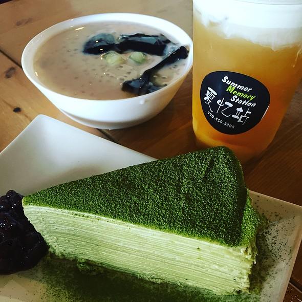 Green Tea Mille Crepe @ Summer Memory Station