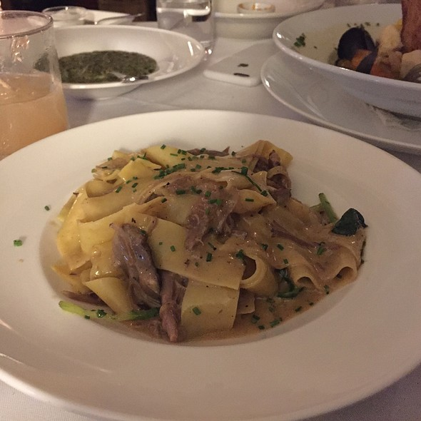 Duck Confit Pappardelle - Starr Boggs, Westhampton Beach, NY
