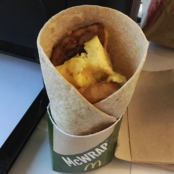 Sausage & Hash Brown More-Ning McWrap @ McDonald's