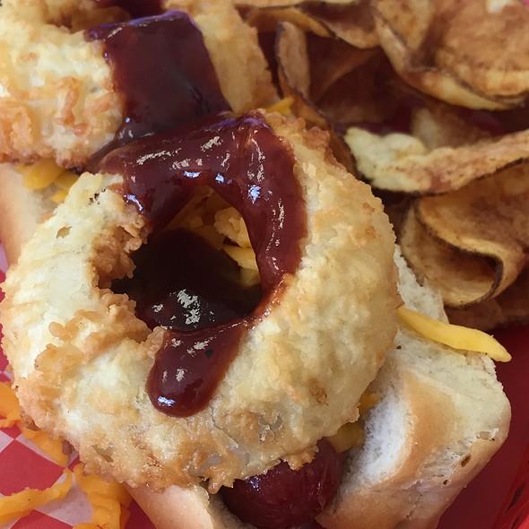 Western Bacon Hot Dog @ Original San Antonio Hot Dog House
