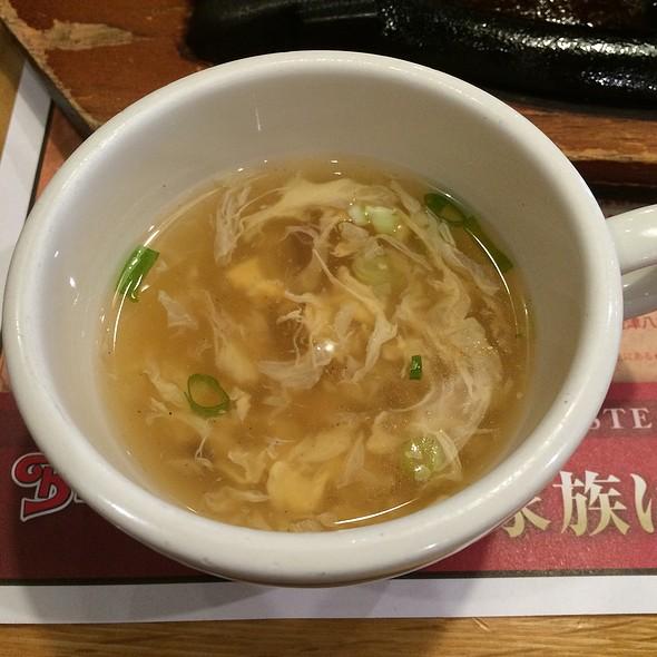 Egg Flower Soup @ ブロンコビリー 大宮三橋店 (Bronco Billy)