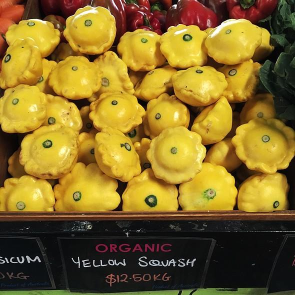 Organic Yellow Squash @ Queen Victoria Market
