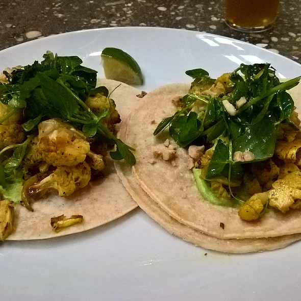 Curry Cauliflower Tacos @ Tired Hands Fermentaria