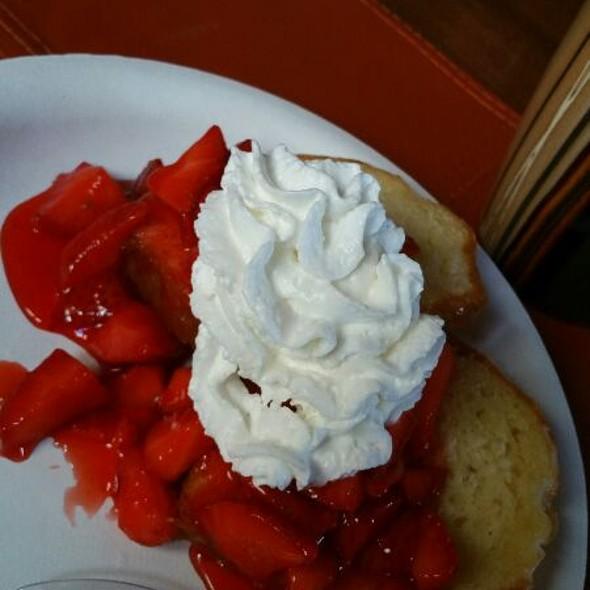 Strawberry Shortcake W/ Whipped Cream @ Chez Moi