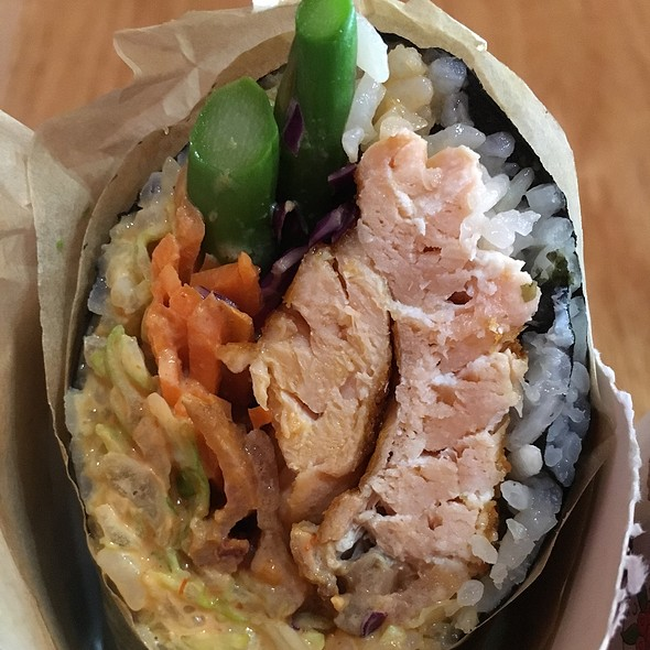Grilled Salmon Sushi Roll @ Sushi Burrito