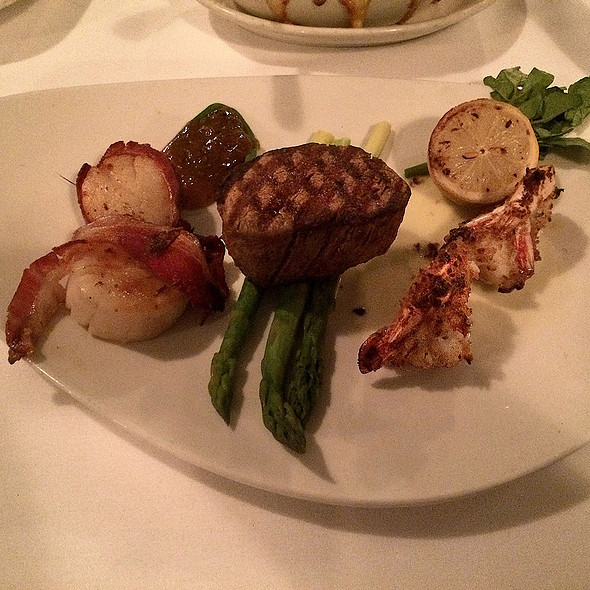 Filet Mignon Mixed Grill with Bacon-Wrapped Scallops and Shrimp - Morton's The Steakhouse - Honolulu, Honolulu, HI