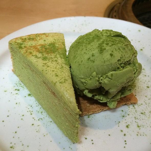 Lady M's Green Tea Mille Crêpe @ Gyu Kaku