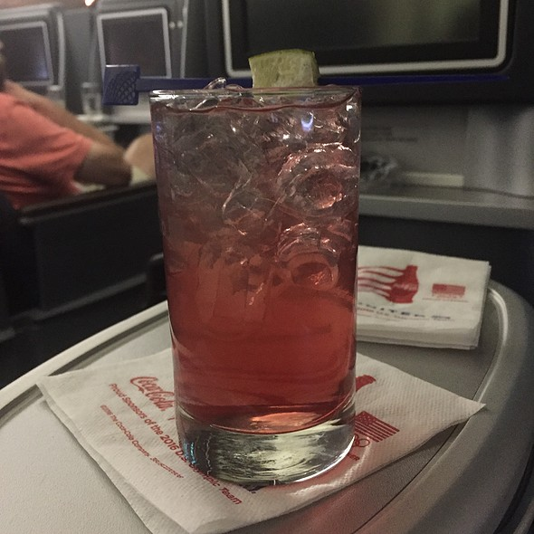Vodka & Cranberry @ United Airlines