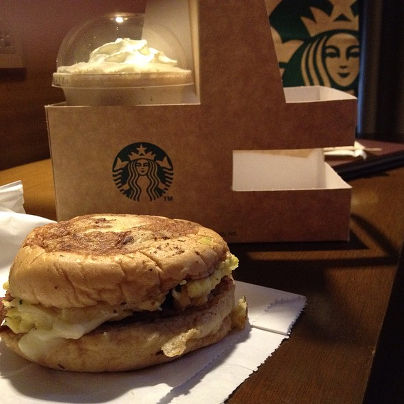 Bacon, Egg And Emmental Cheese On French Toast @ Starbucks Sapphire