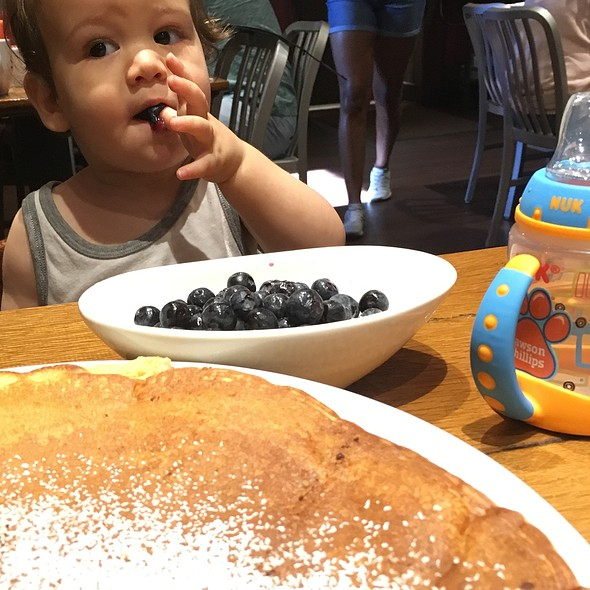 Giant Buttermilk Pancake With Blueberries @ Scrambled Southern Diner