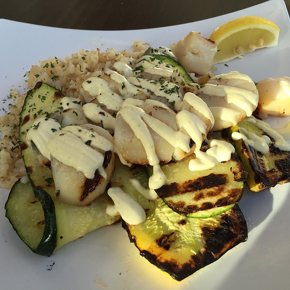 Scallops From The Grill @ Sabra Fish Grill