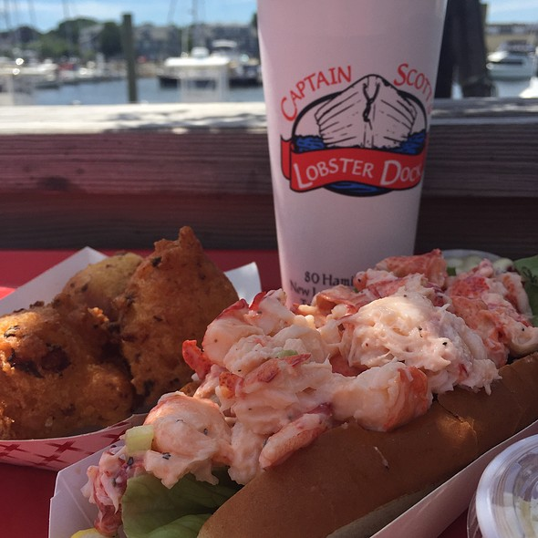 Cold Lobster Roll & Clam Fritters