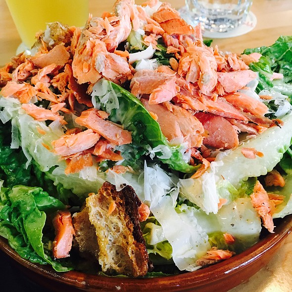 Ceasar Salad With Smoked Salmon @ Quality Athletics