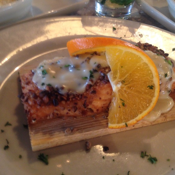 Pecan Crusted Salmon @ Stone Grille And Taphouse