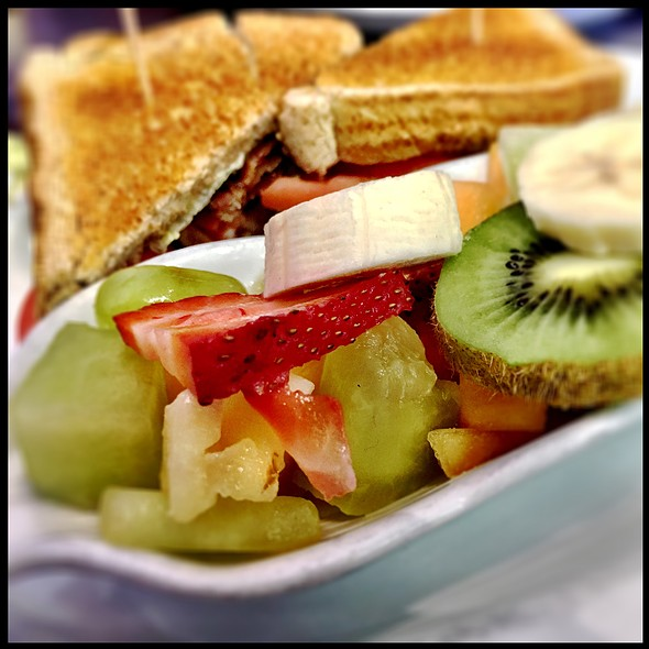 Breakfast Blt With Fruit Salad @ Fifty's Diner