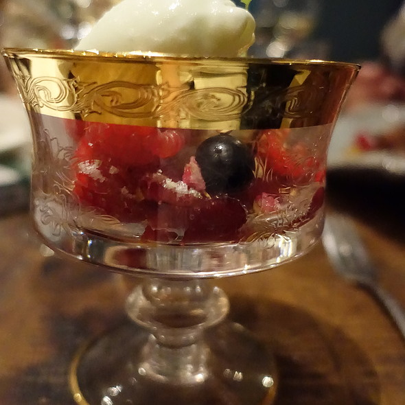 Vervain Ice Cream, Red Berries @ Bread and Roses