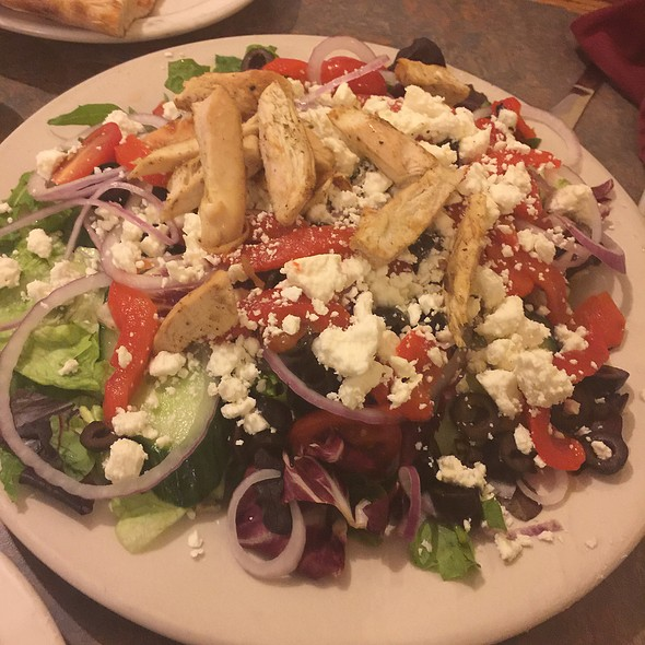 Greek Salad with Grilled Chicken @ Pat's Pizza