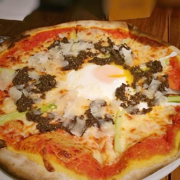 Black Truffle Pizza With Egg @ La Nonna