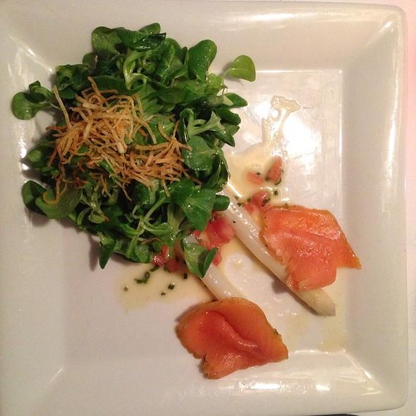 Asparagus And Salmon Carpaccio @ Schlosswirtschaft zur Schwaige