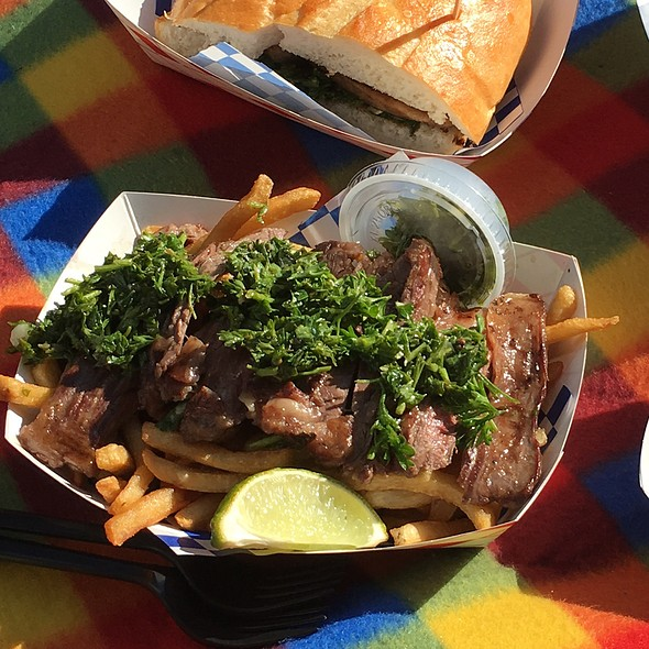 Steak With Chimichurri Fries @ Piaggio Gourmet on Wheels