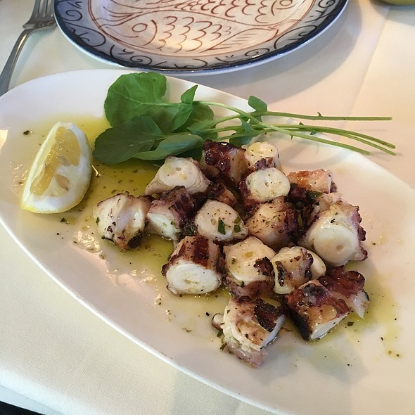 Octopus Grilled With Olive Oil Lemon And Fresh Oregano - Kokkari Estiatorio, San Francisco, CA