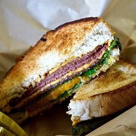 Fried Bologna Melt Sandwich