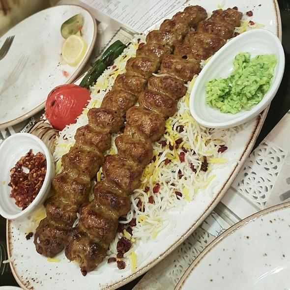 Lamb Chelo Kebab With Pomegranate Rice @ Al Mrzab Popular Restaurant