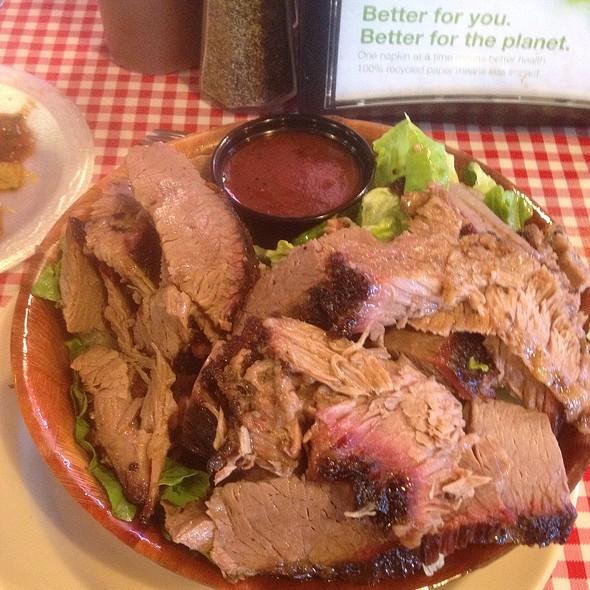 Brisket Cesar Salad @ Abbey's Real Texas BBQ
