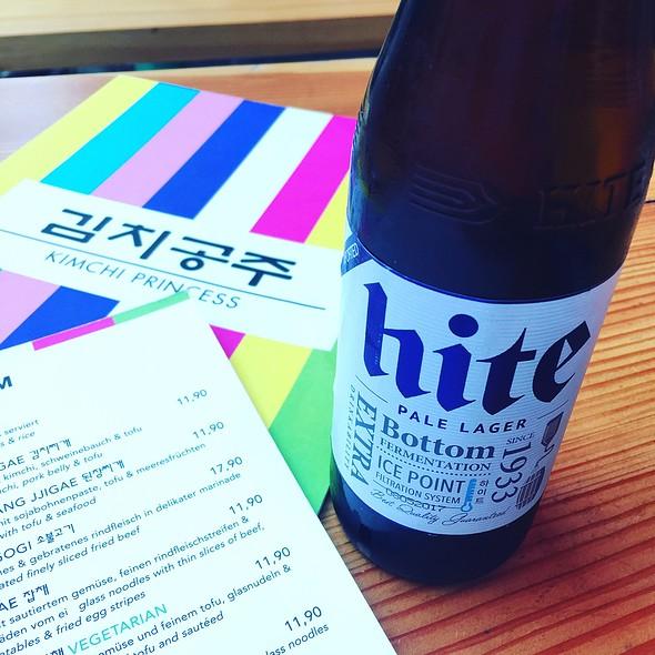 Hite Korean Beer @ Kimchi Princess