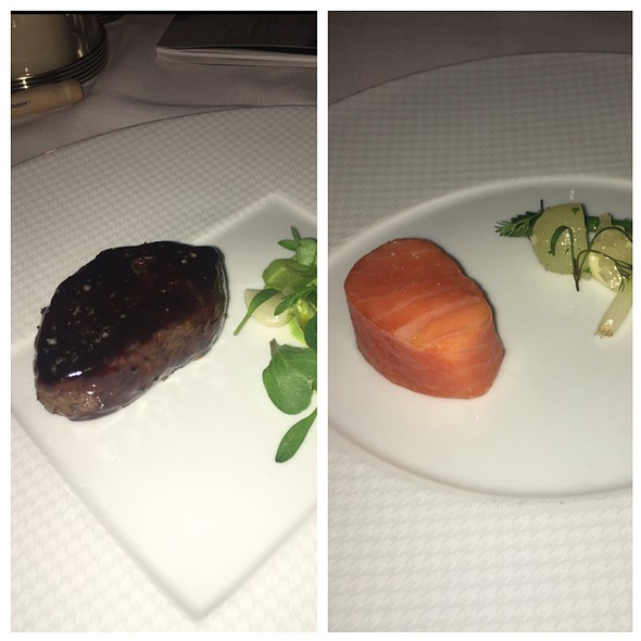 Charcoal Grilled Wagyu, Slow Cooked Filet Of Sea Trout @ The French Laundry