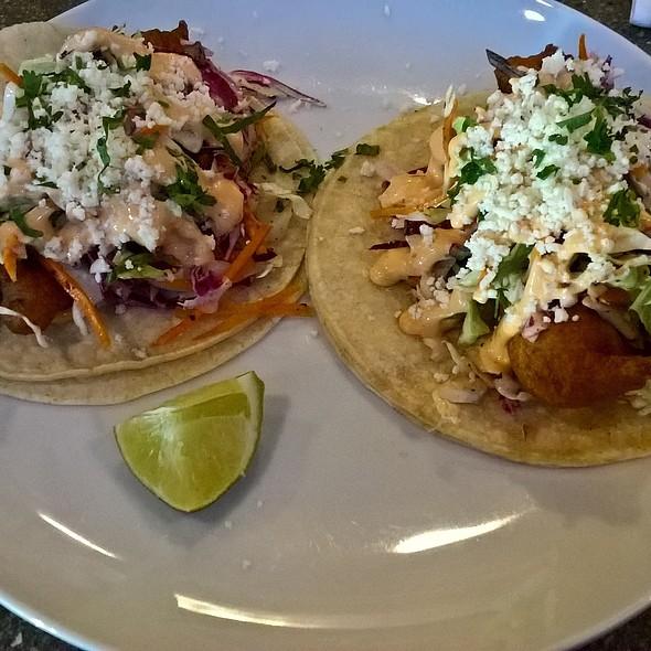 Beer Battered Fish Tacos @ Tired Hands Fermentaria