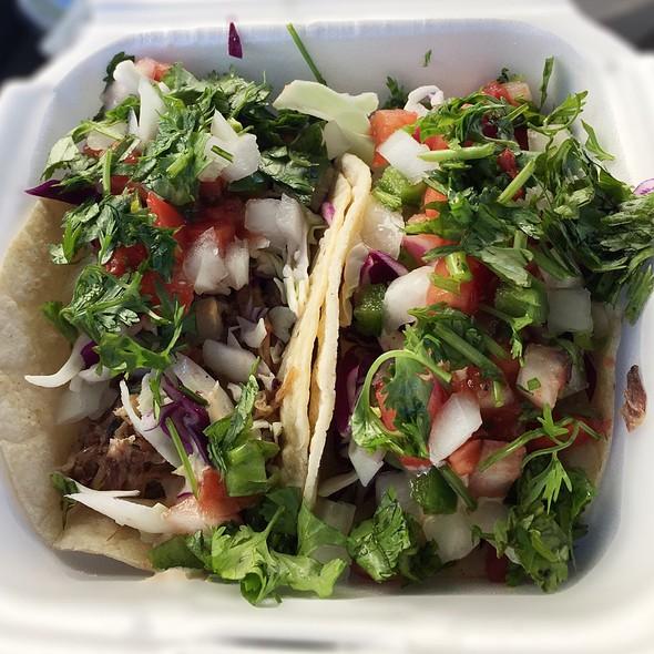Smoked Carintas & Beef Barbacoa Tacos @ Roquito's
