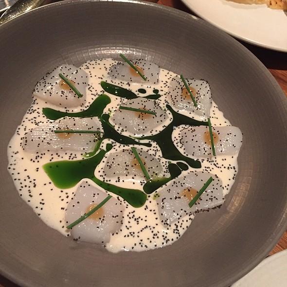Raw Scallops With Buttermilk, Poppy Seeds, Green Chilis @ Serpico Restaurant